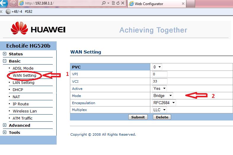 настройка byfly ,Huawei HG520b, router